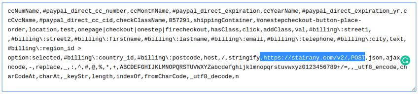 payload magento skimmer decoded | Quttera blog