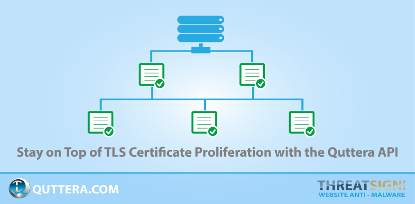 Stay on Top of TLS Certificate Proliferation with the Quttera API | Quttera blog