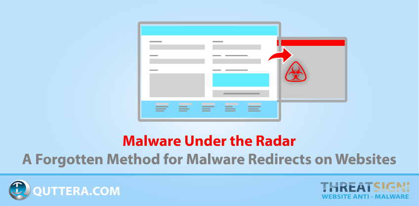 Malware Under the Radar - A Forgotten Method for Malware Redirects on Websites | Quttera blog