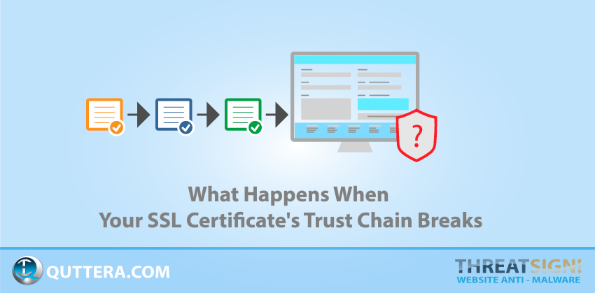 What Happens When Your SSL Certificate's Trust Chain Breaks | Quttera blog