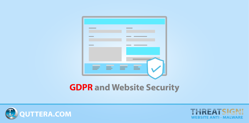 GDPR and Website Security | Quttera blog